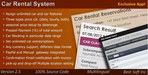 Car Rental System Wordpress Plugin Wootheme Plugins