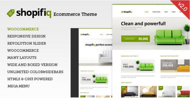 Shopifiq - Responsive WordPress WooCommerce Theme - Wootheme Plugins
